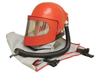 Защитный шлем оператора абразивоструйных работ