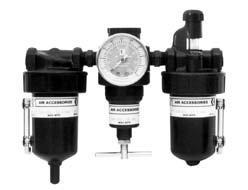 Комбинированное устройство: фильтр, регулятор, манометр, смазочное устройство